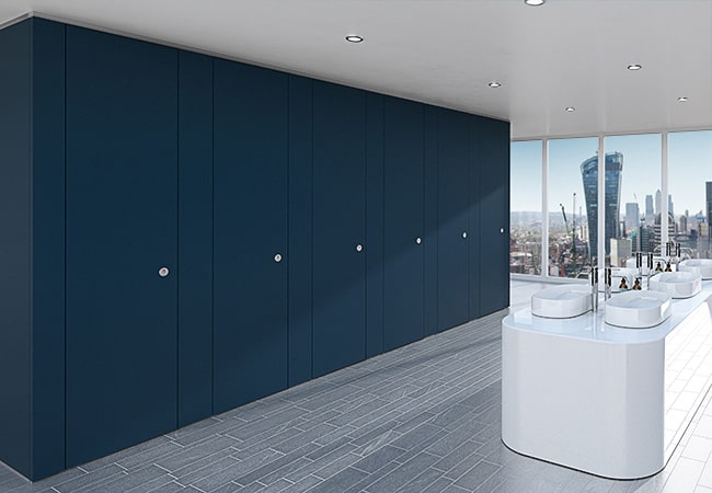 Sylan Corporate Washroom Cubicles in Blue ColourCoat