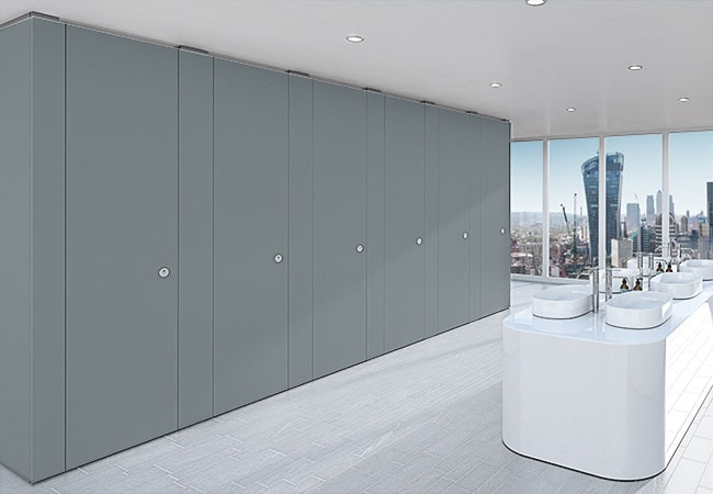 Sylan Corporate Washroom Cubicles in Grey ColourCoat