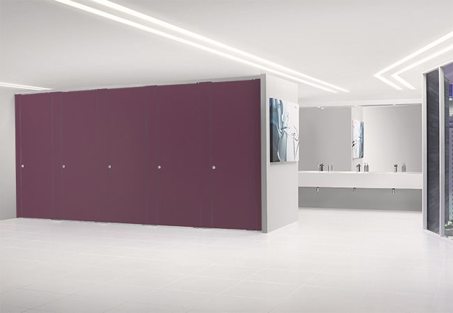 Sylan HPL Washroom Cubicles in Pansy
