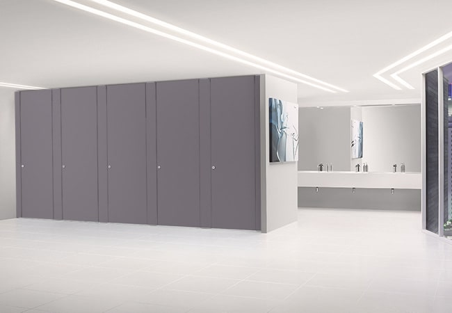 Sylan HPL Washroom Cubicles in Russian Blue