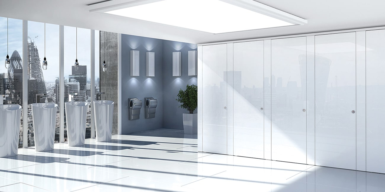 Sylan Glass commercial washroom cubicles