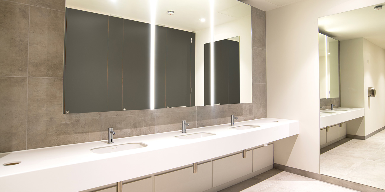 100 Embankment Solid Surface Vanity & Box Mirror Unit