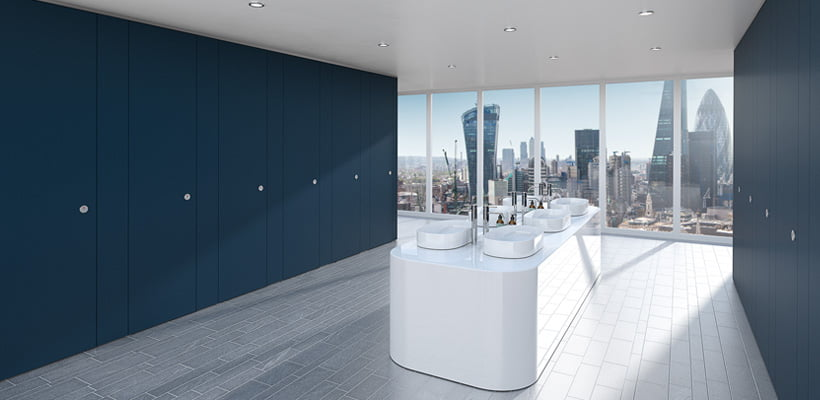 Sylan Commercial Washroom Cubicles in ColourCoat